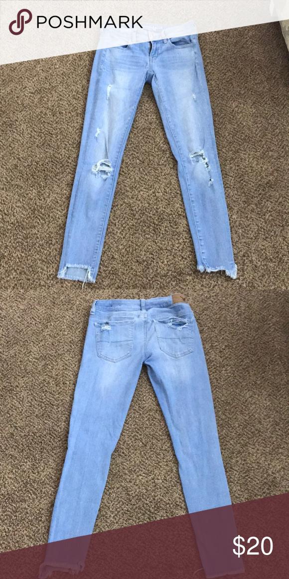 American Eagle Light Blue Jeans Light Blue Jeans Blue Jeans American Eagle