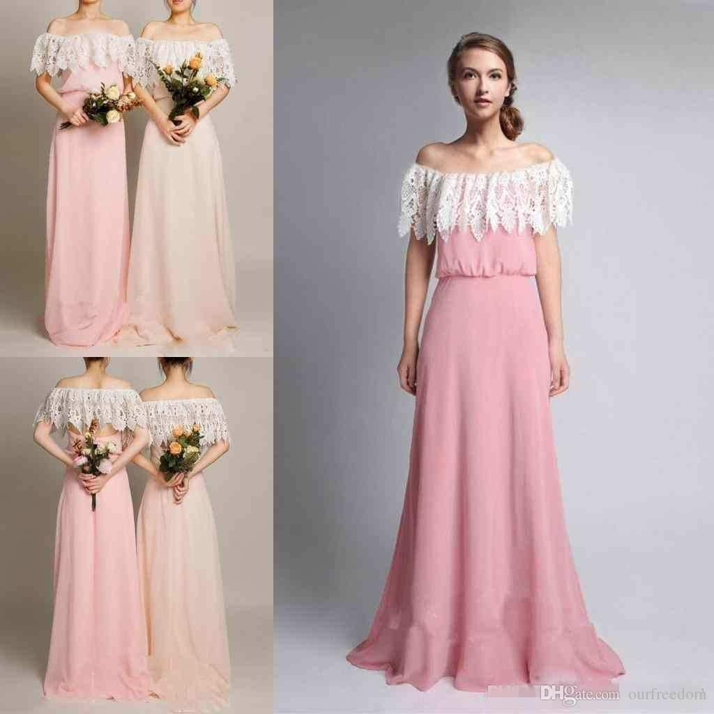 2017 simple country style chiffon bridesmaid dresses lace ruffles 2017 simple country style chiffon bridesmaid dresses lace ruffles off the ombrellifo Gallery