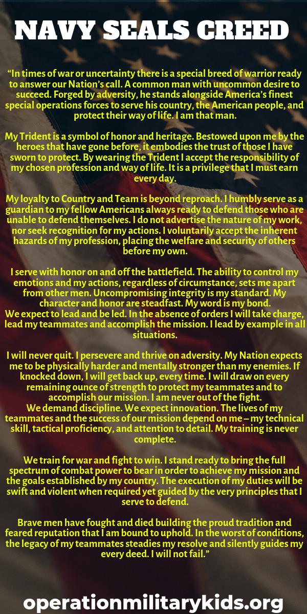 several navy seals creed ethos sayings