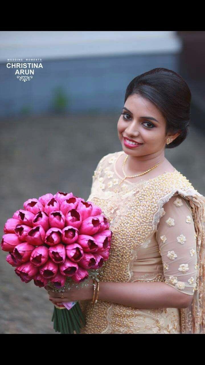 Kerala wedding reception dresses for the bride  Pin by Sangeetha Rajan on wedding  Pinterest  Saree Christian and