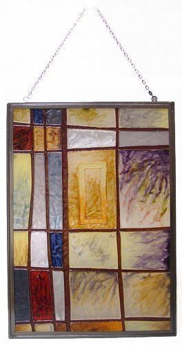 Newview 1849 C Mixed Intervals Stained Glass, Rectangular Center by NewView. $34.99. Multicolor stained glass. Metal frame. Ideal for indoor use. Easy to clean. Includes hanging chain. Studio mixed intervals stained glass.
