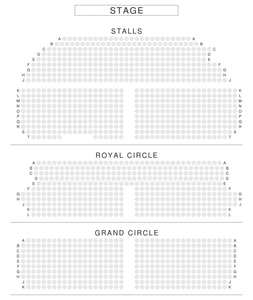 Elegant Crown Theatre Seating Plan
