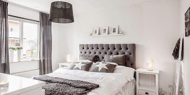 Un piso de estilo n rdico rom ntico en blanco y gris for Muebles romanticos blancos
