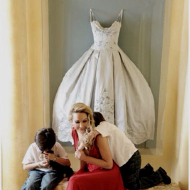 Wedding Gown Display: Adrienne Maloof From Real Housewives Of Beverly Hills