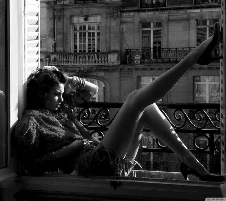 Women model women window black and white models wallpaper