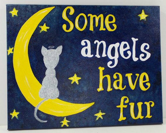 Cat Painting - Cat Memorial Gift - Cat Condolence Gift - Cat Art - Cat Sympathy Gift - Cat Lover Art