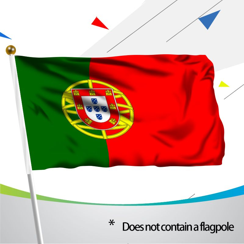 MOFAN 3x5 Foot Portugal national Portuguese Flag- High Quality Durable and Double Stitched- Holiday procession Flags Polyester