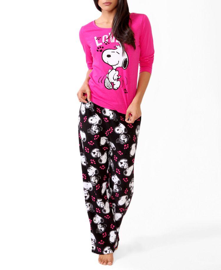 fe6b145287 Snoopy  Love  Pajamas