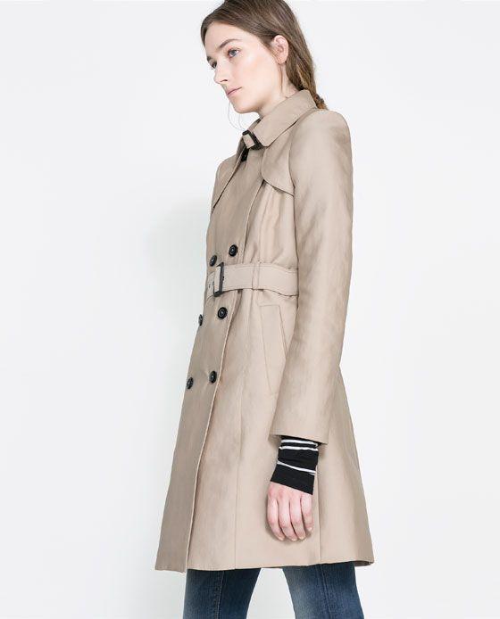 Cotton Trench Coat Coats Woman Zara Ireland Coat