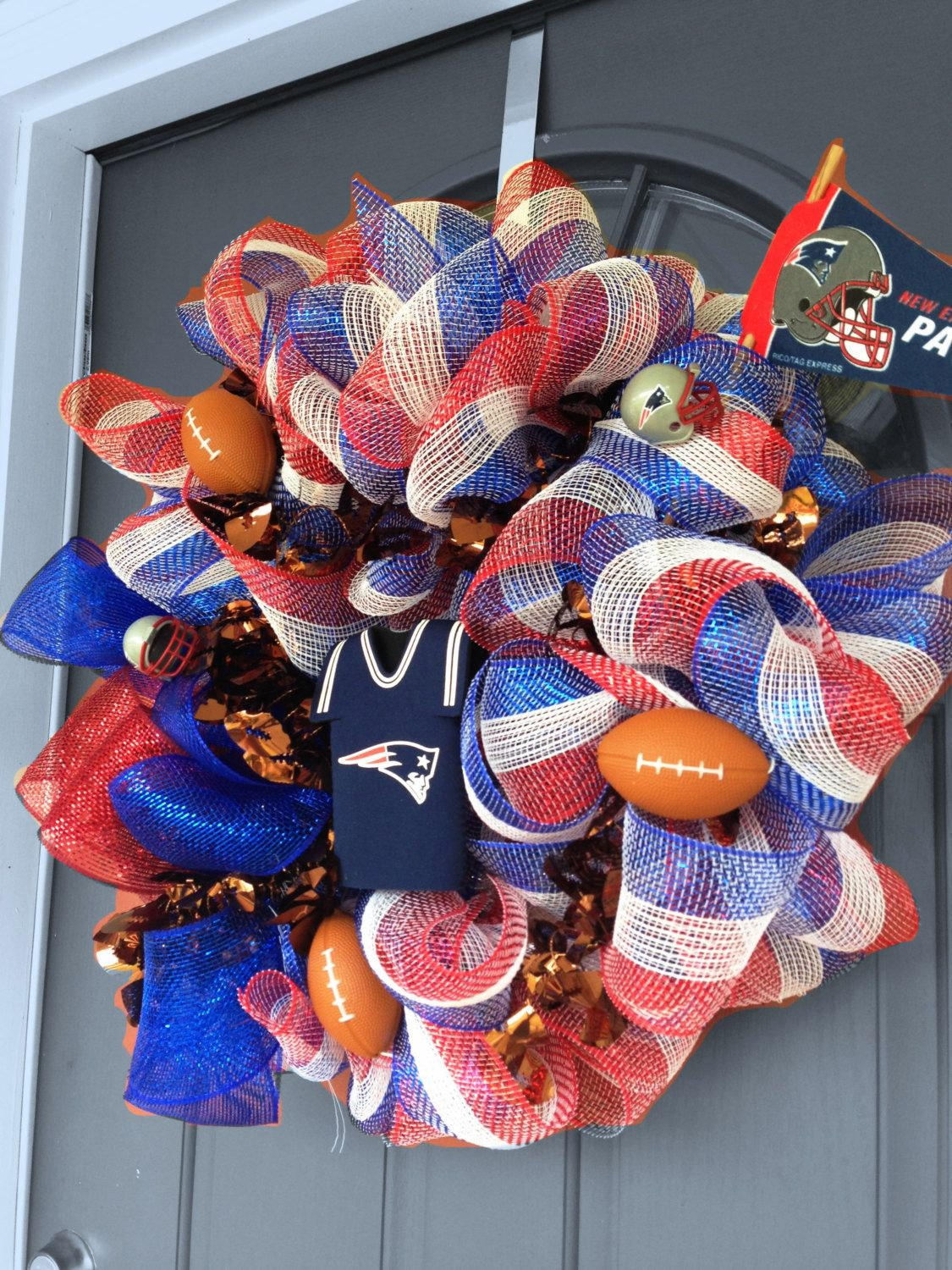 New England Patriots Wreath Great Gift Idea For Mom