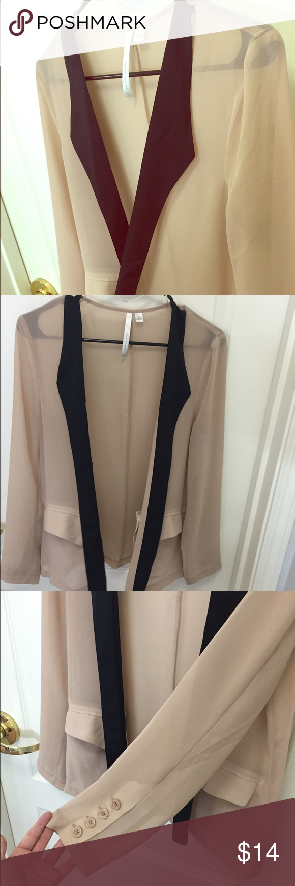 Sheer nude cardigan | Best Nude cardigans and Black trim ideas