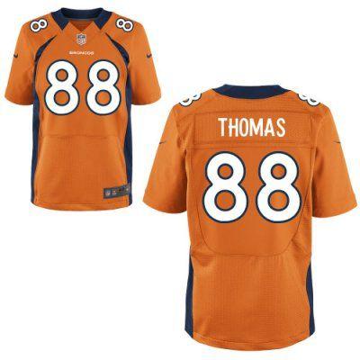 015ba79984 Men s Denver Broncos Jamaal Charles Orange Team Color Stitched NFL Nike  Elite Jersey