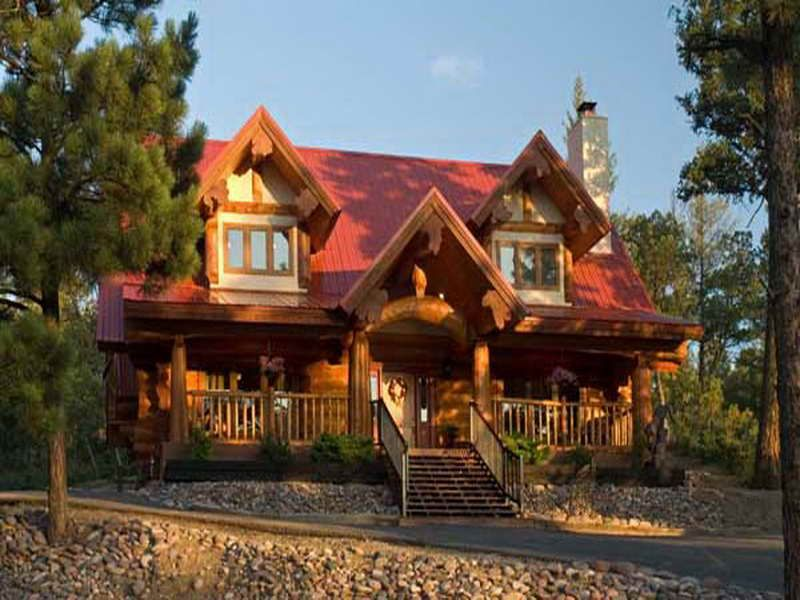 House design new mexico small log cabin kits 10 bieicons for How much does it cost to build a small cottage
