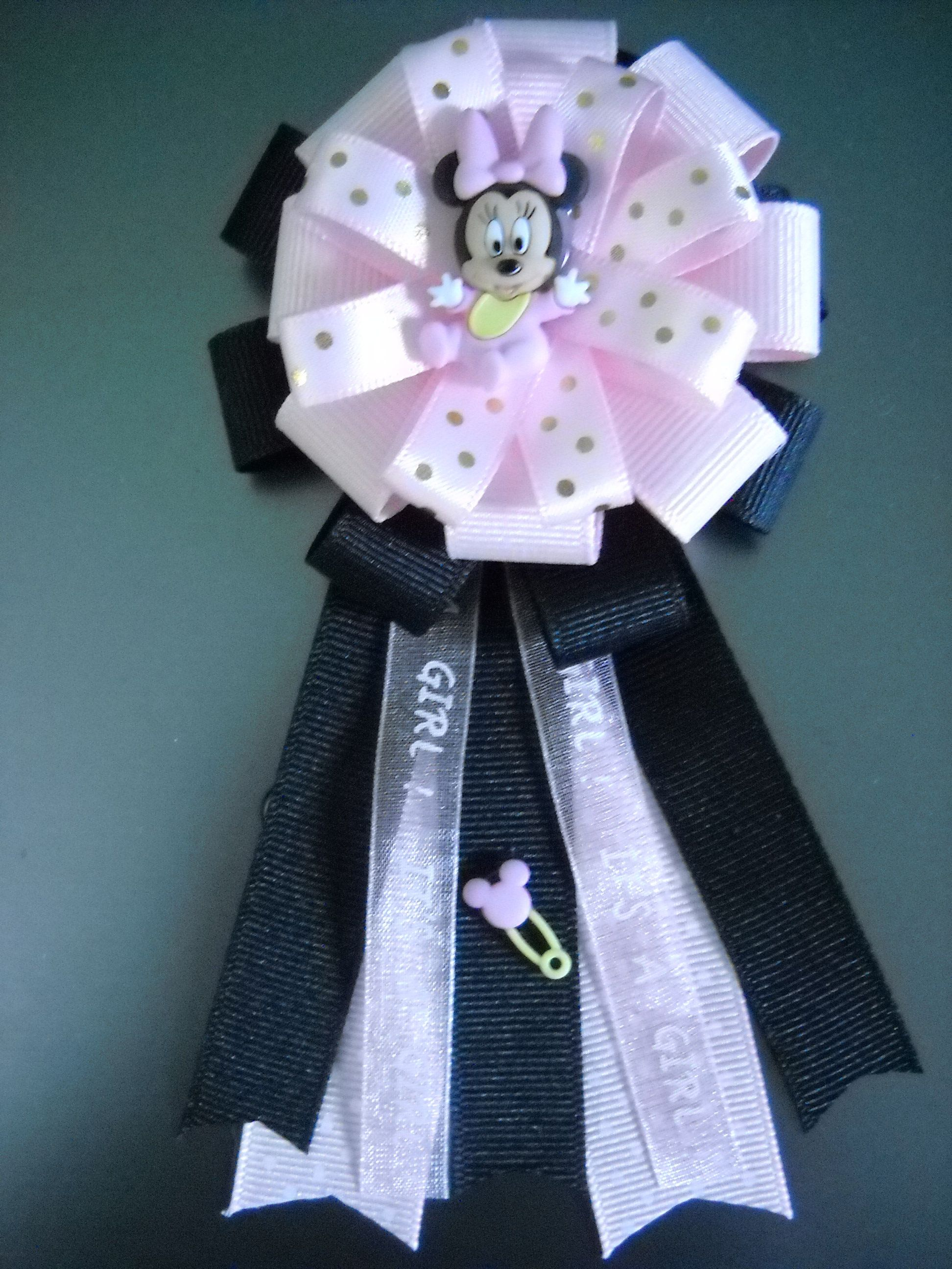 Baby Minnie Mouse Baby Shower Corsage Minnie Mouse Baby Shower