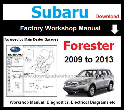 Subaru forester 2009 2010 2011 2012 2013 repair manual.