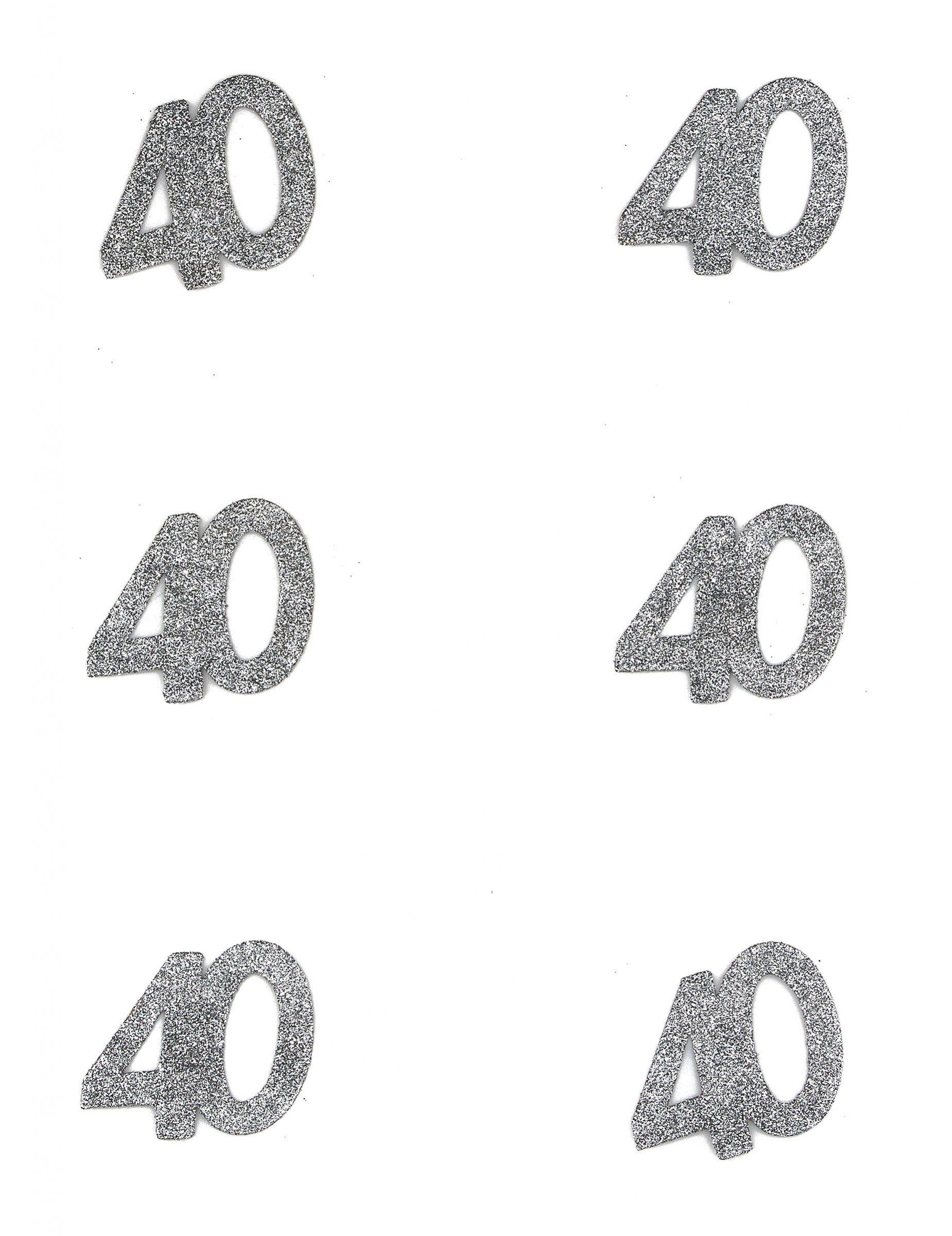 confetti anniversaire 40 ans et un choix immense de d corations pas ch res pour anniversaires. Black Bedroom Furniture Sets. Home Design Ideas