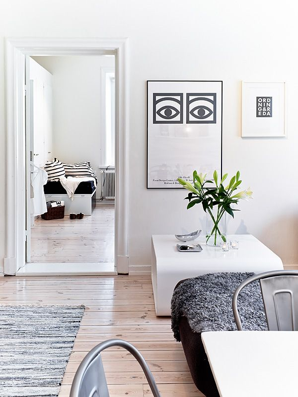 Sea of girasoles interior black white grey home inspiration - Wohnzimmer pflanze groay ...