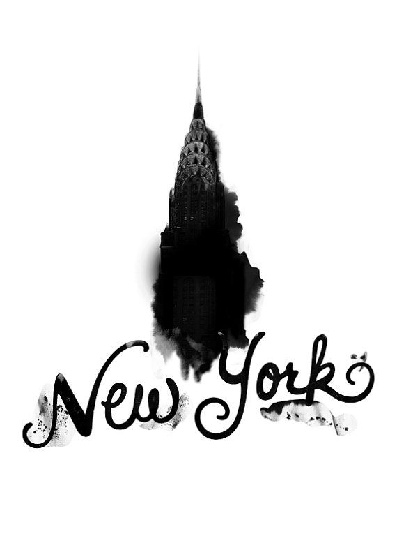 New York (Nostalgia, Typography, NYC, Love, Sentimental, Manhattan, Chrysler Building)