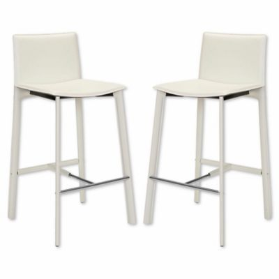 Admirable Safavieh Janet Bar Stool In White In 2018 Products Lamtechconsult Wood Chair Design Ideas Lamtechconsultcom