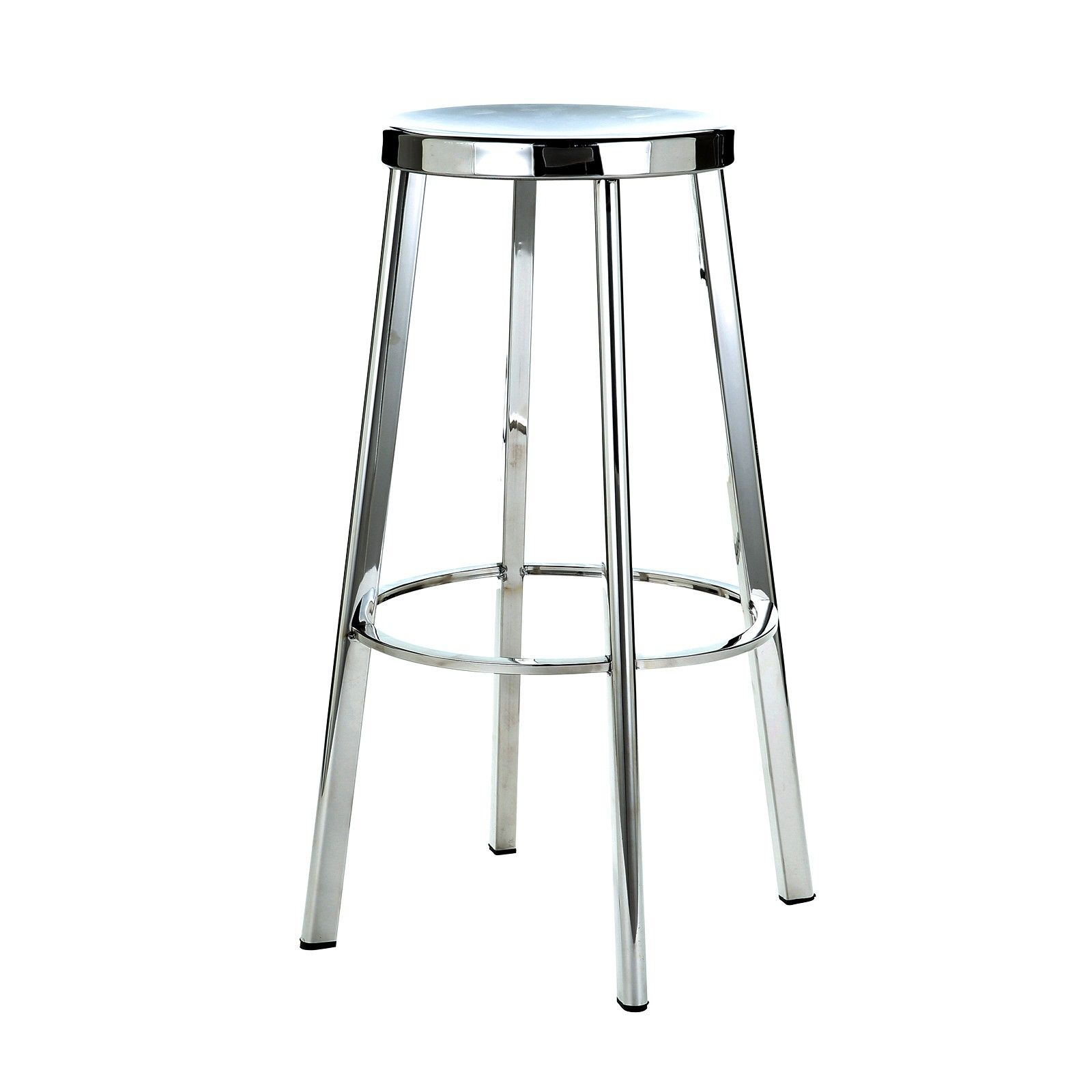 Stainless Steel Stools Kitchen: Polished & Brushed Stainless Steel Sassy 45cm Stools