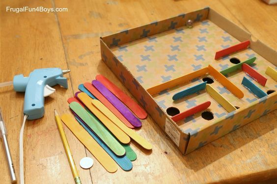 How to Make a Cardboard Box Marble Labyrinth Game - Frugal Fun For Boys and Girls