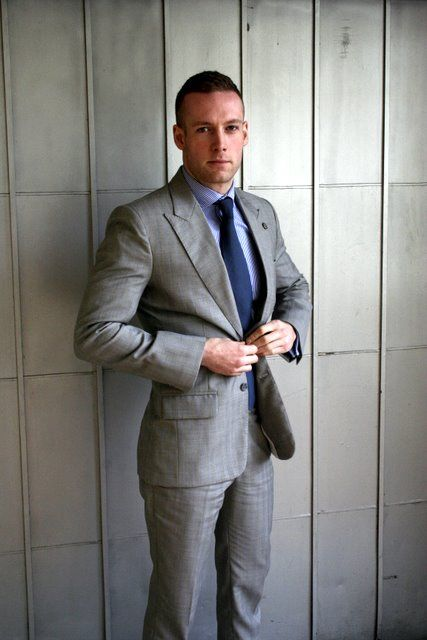 Groom's suit idea | ever after | Pinterest | Blue ties, Gray suits ...