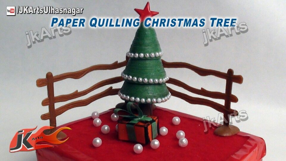 Paper quilling Christmas tree Christmas Craft DIY Pinterest
