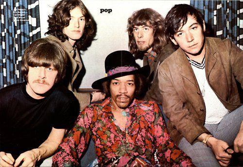 Carl Wayne, Steve Winwood, Jimi Hendrix, John Mayall, Eric Burdon