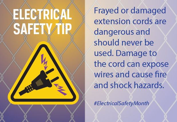 Frayed Or Damaged Extension Cords Are Dangerous And Should