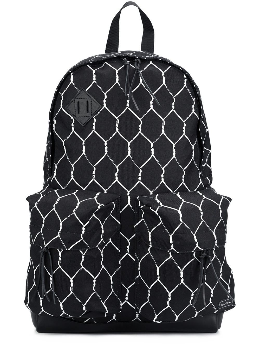 ebe0d56504 UNDERCOVER  Undercover x Porter  fence print backpack.  undercover  bags   leather  lining  polyester  nylon  backpacks