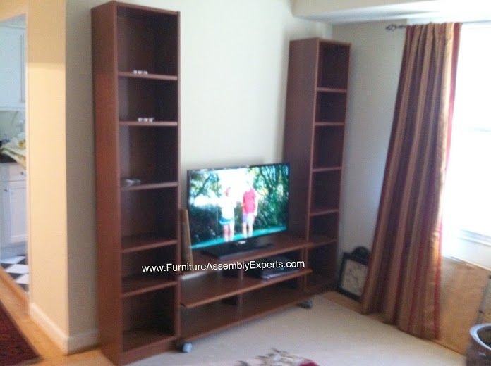 ikea billy bookcases and benno tv stand assembled in district ...