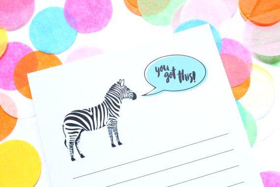 Notepad You Got This Notepad Zebra Notepad To Do List by DesignGem