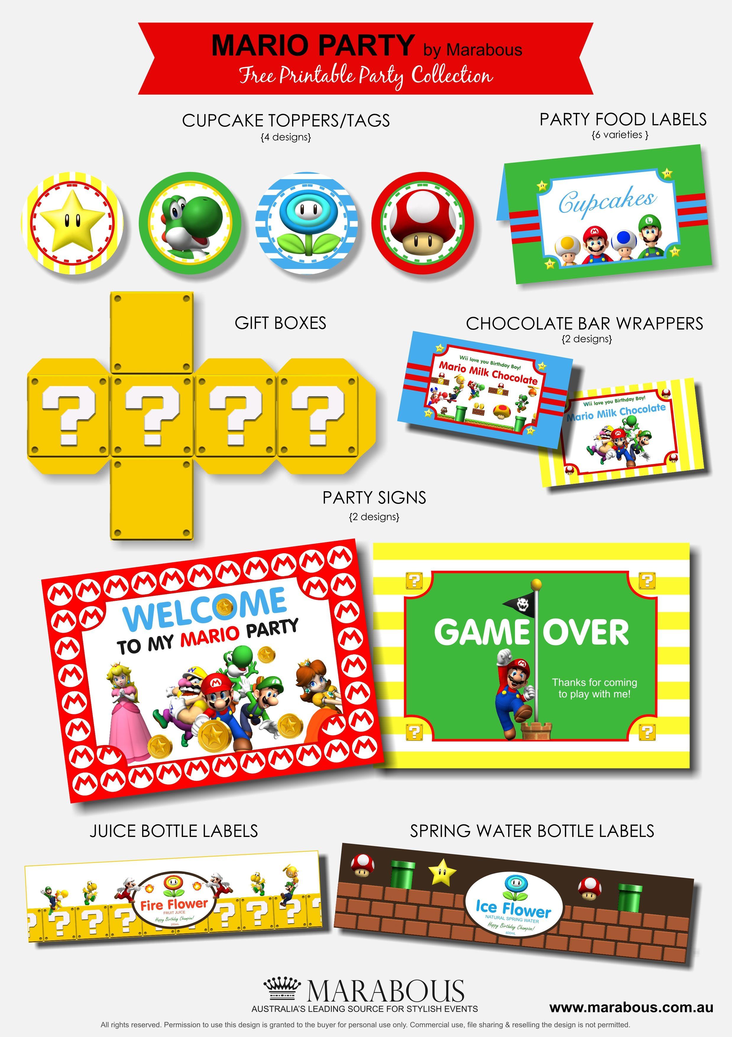 Ideas para fiestas tem ticas de Super Mario – Mario Kart Party Invitations