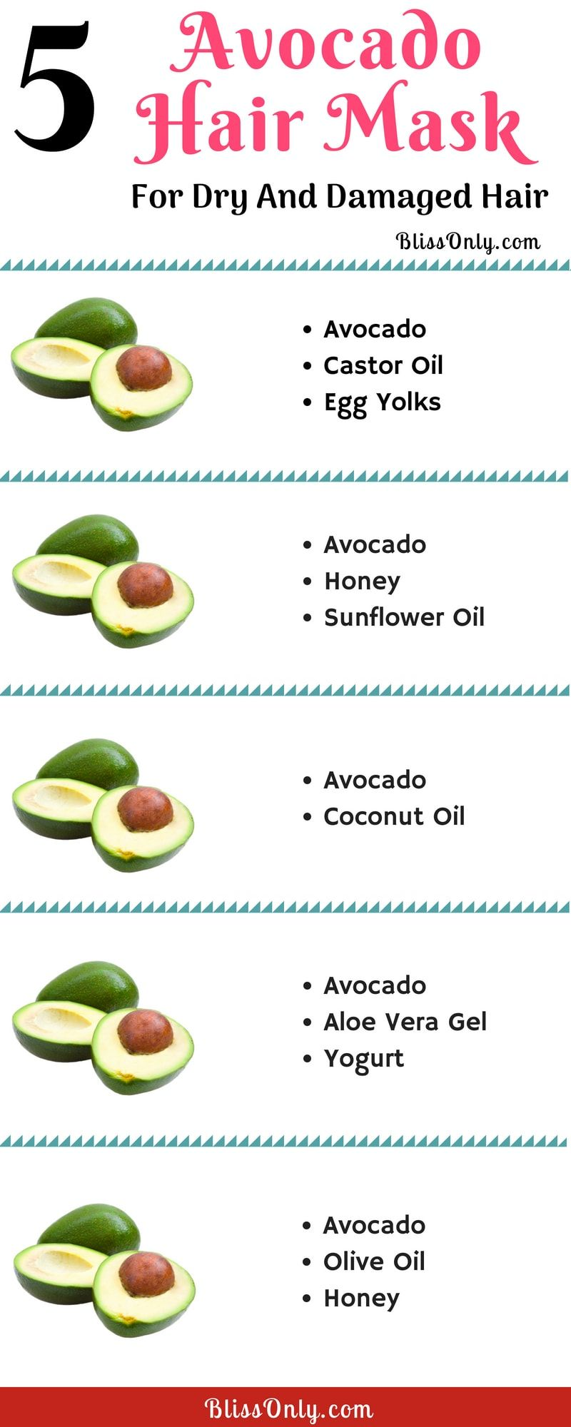 5 Avocado Hair Mask For Dry And Damaged Hair Avocado