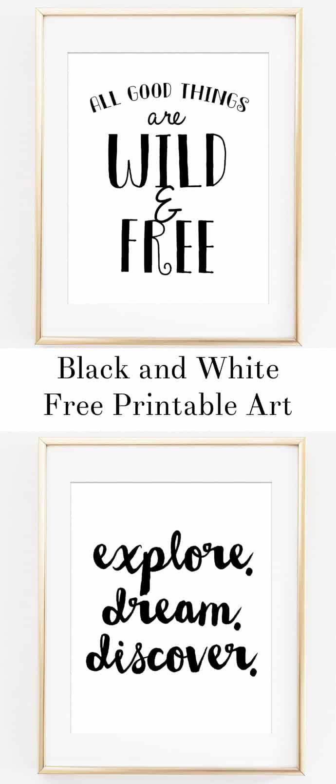 Black And White Playroom Art