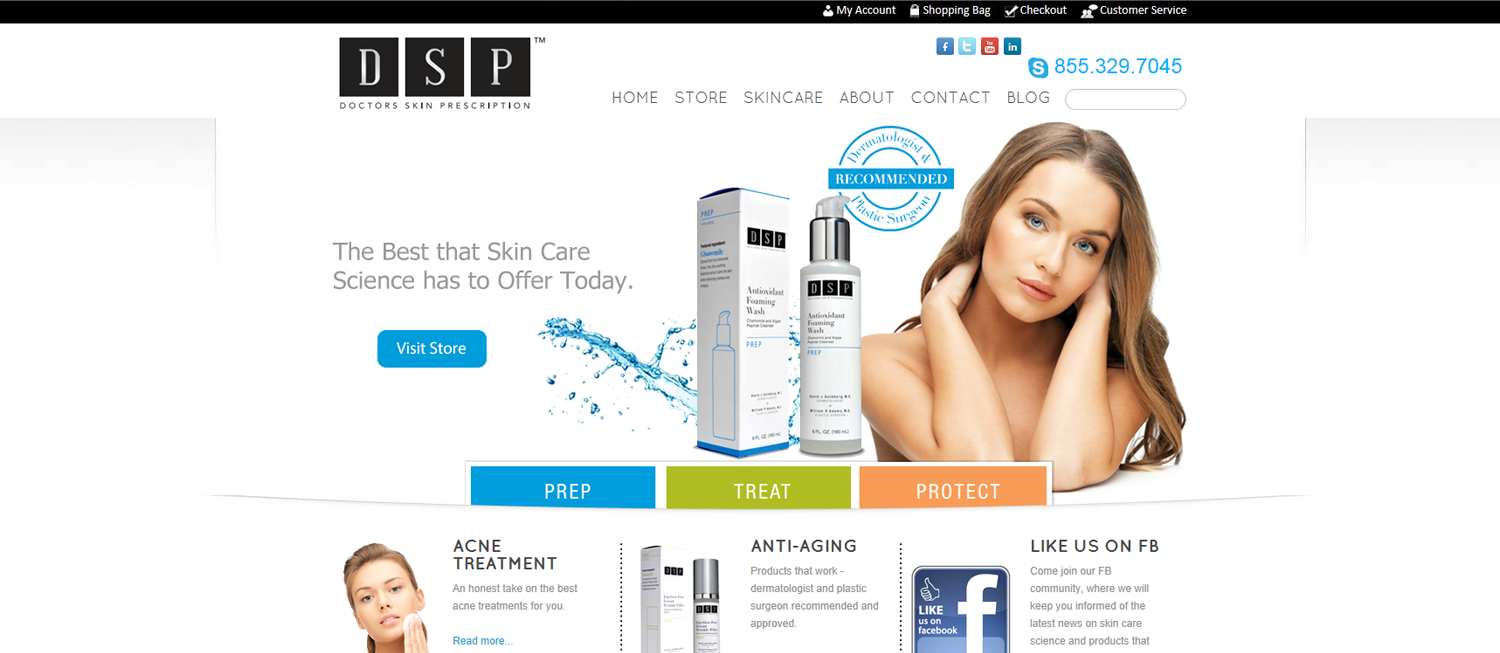 Dsp Skincare Website Portfolio Illumination Consulting Skin Care Skin Care Toner Products Skin