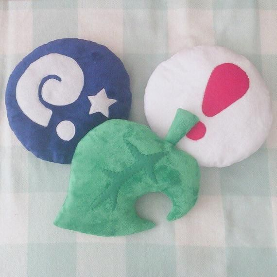 Animal Crossing Leaf, Fossil, Pitfall Plushies - Plushies