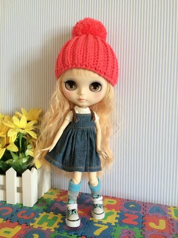 Blythe Knitted Hat | Doll Hat | Doll accessories - 203040anyage - 1