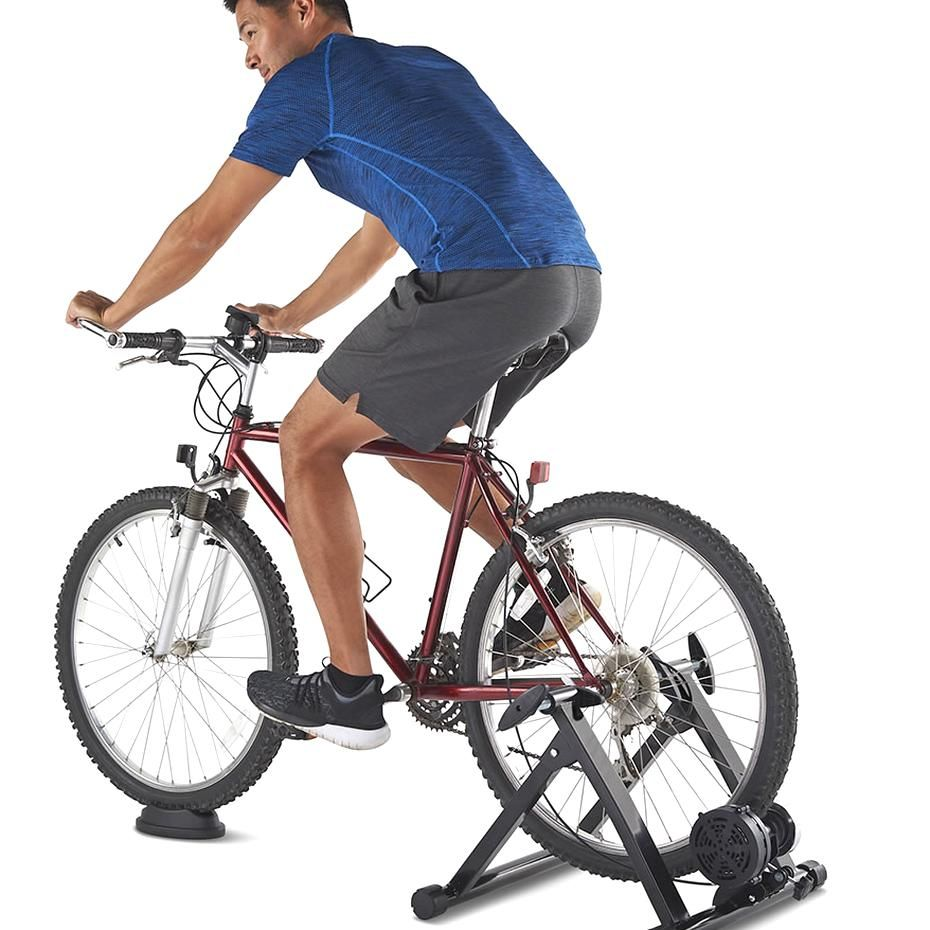The Indoor Cycling Conversion Stand Hammacher Schlemmer In 2020 Indoor Bike Indoor Cycling Indoor Spin Bike
