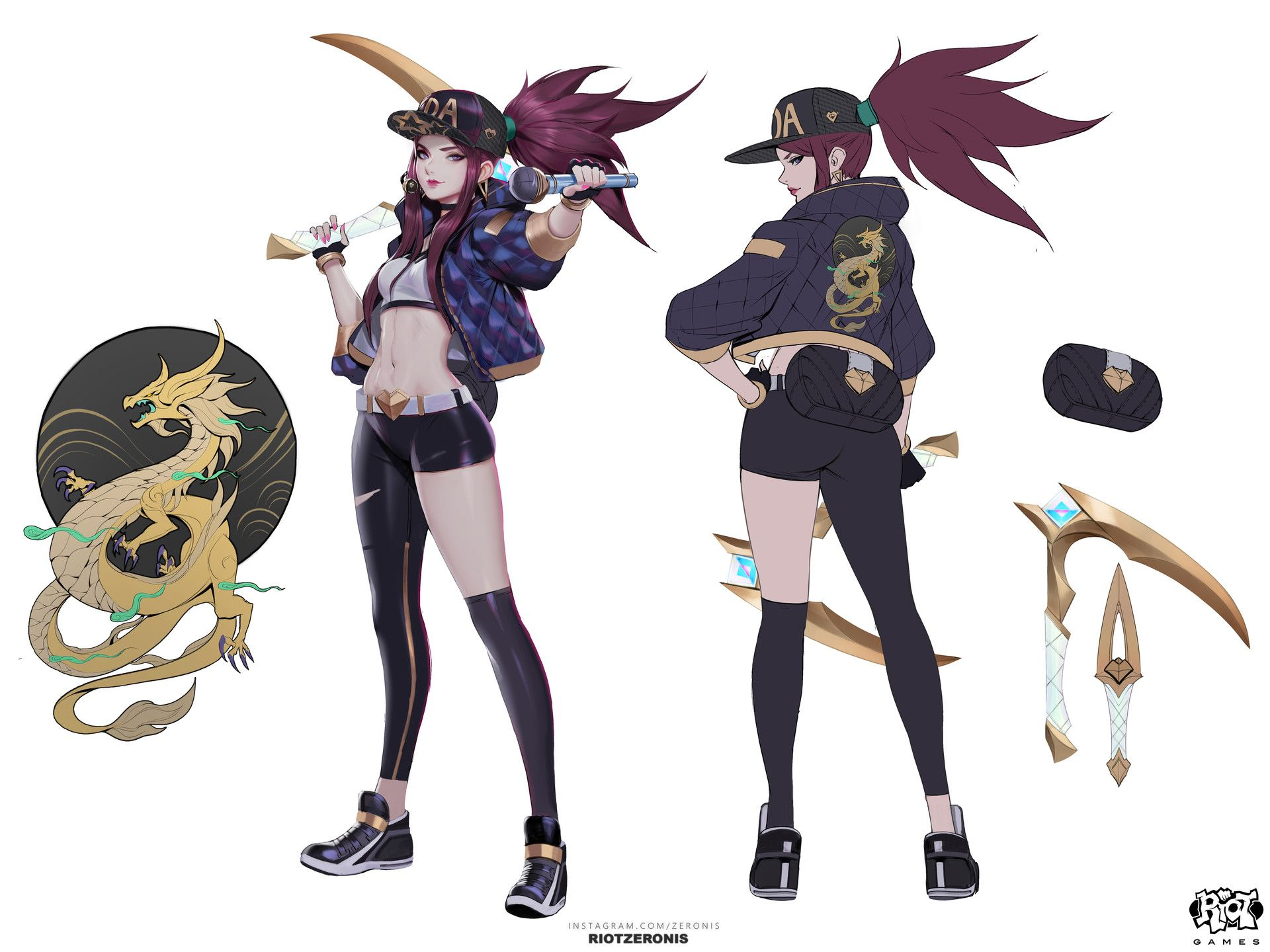Akali lol character sheet character concept art game character league of legends