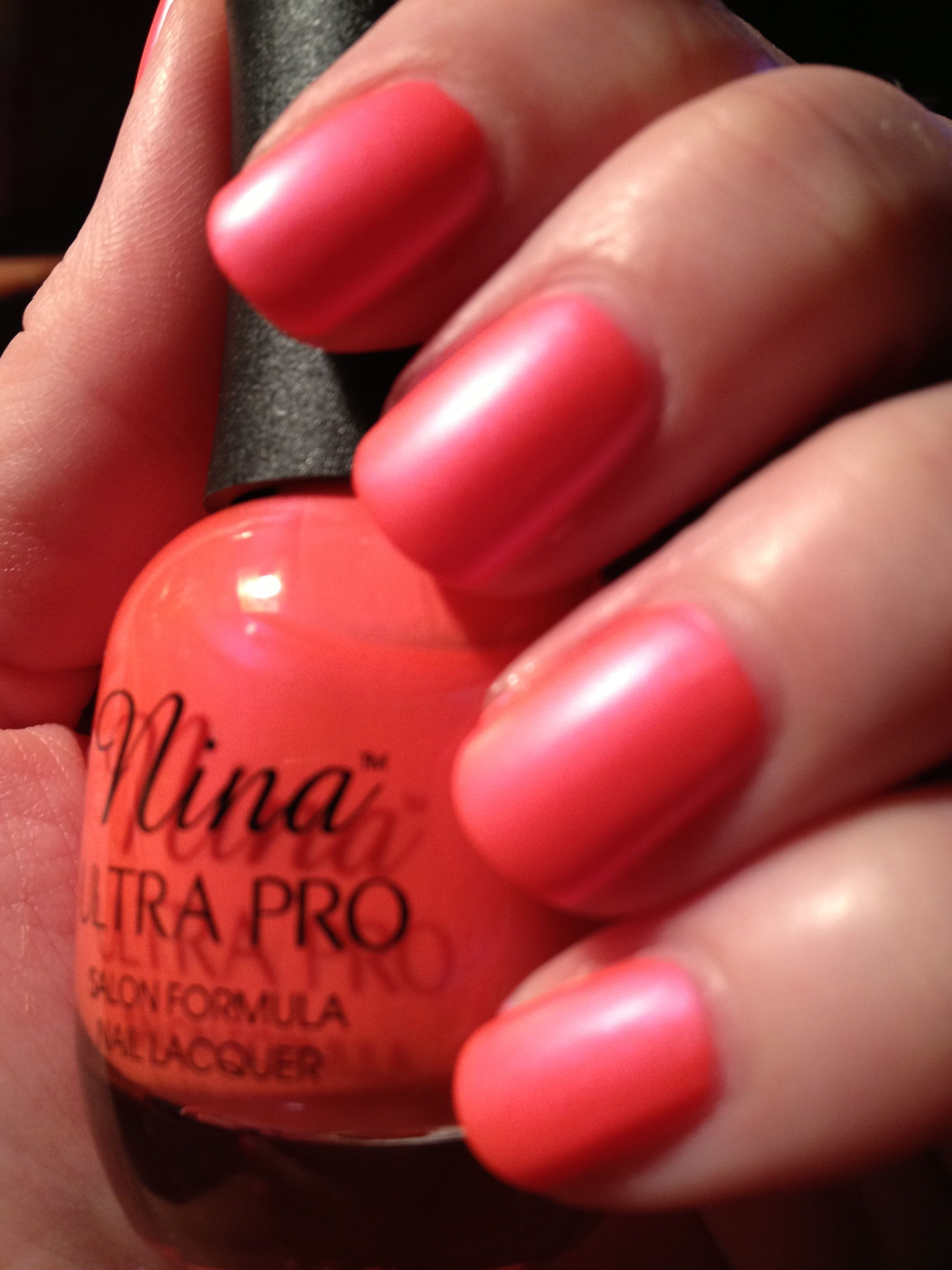 Ultra Pro - Pearly Brights. A beautiful, bright, matte coral nail polish for spring and summer!
