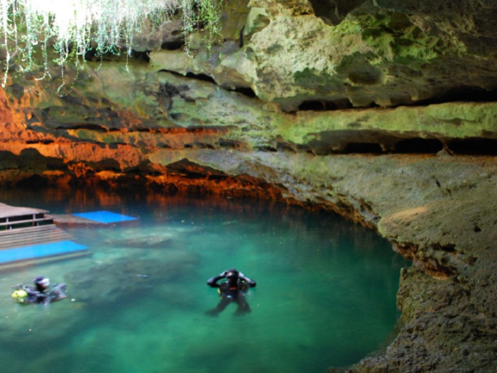 Devil S Den Cave In Florida Went Swimming In This Cave