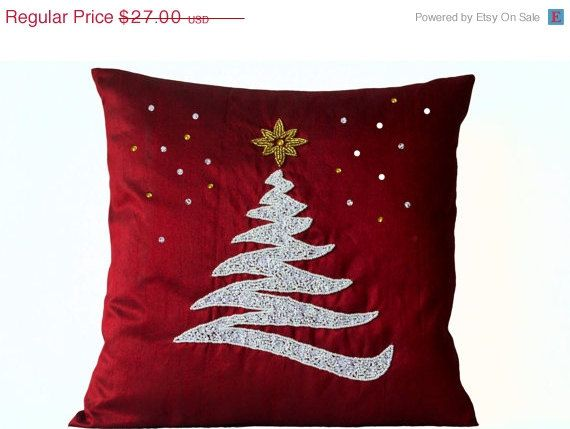Sale Decorative Pillow Cover Christmas Pillow Red By Amorebeaute Throw Pillows Christmas Decorative Pillows Christmas Christmas Accent Pillows