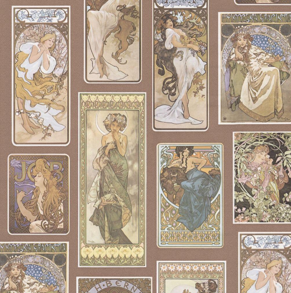 Art Deco Women Woman Walls on Demand Print Pattern