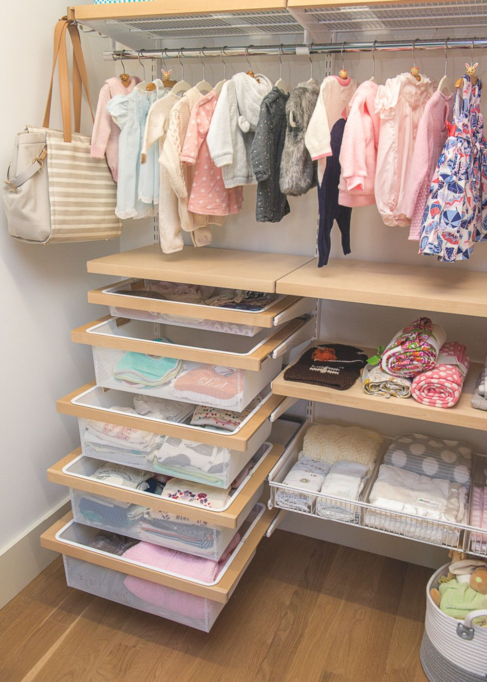 Closet Organization Hooks For Diaper Bag Shelves Baskets Baby