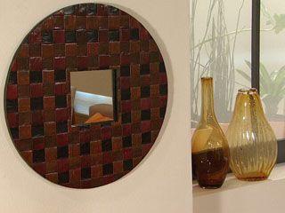 espejo con papel periodico manualidades y artesan as On hacer artesanias espejos