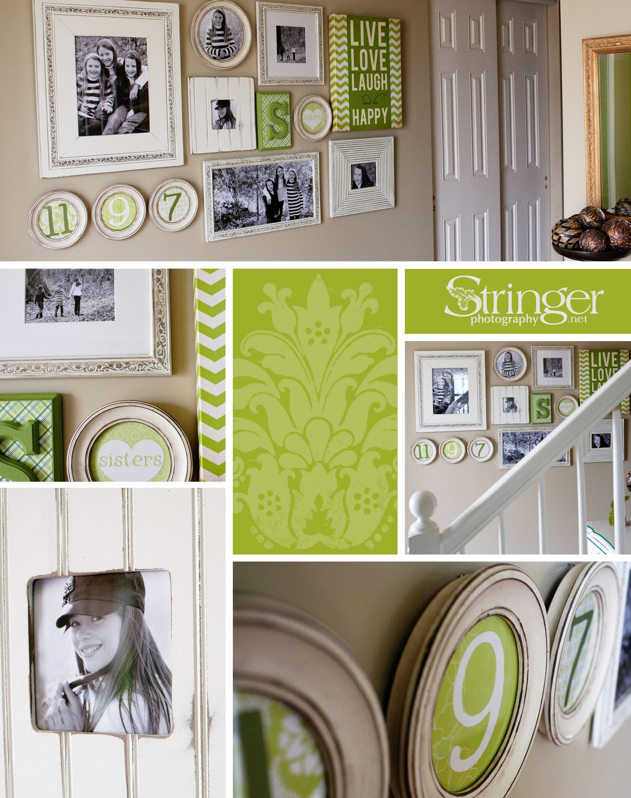 Lori Stringer did a great job designing the wall collage in her ...
