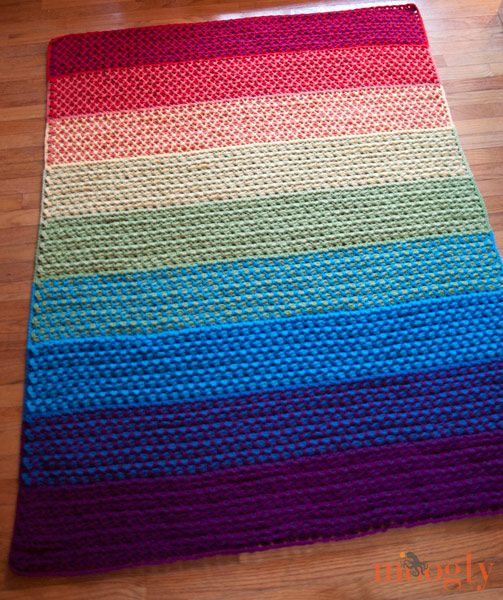 Crochet Afghan Rugs Pattern Free : The Moroccan Tile Afghan :: free #crochet pattern with ...