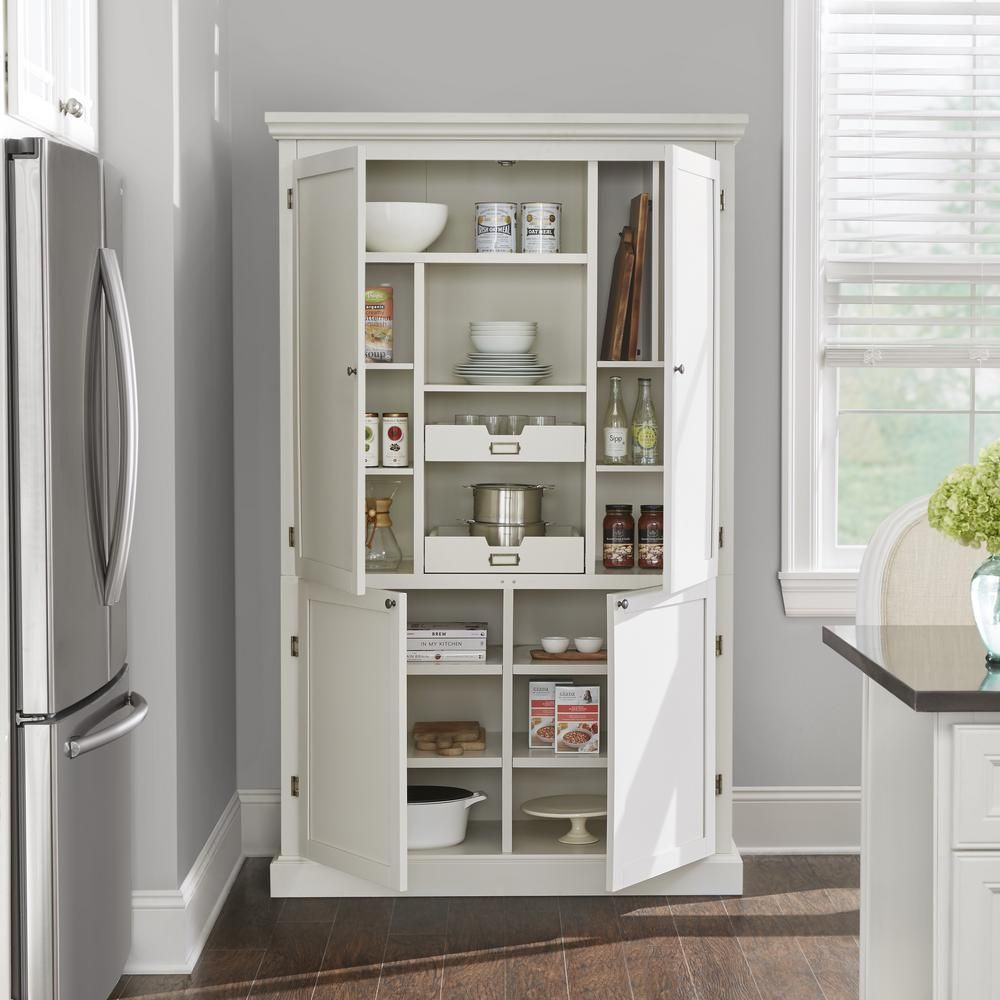 Home Decorators Collection Prescott Polar White Modular 6 Shelf Pantry Base 9950700410 The Home Depot In 2020 Diy Pantry Organization Diy Pantry Home