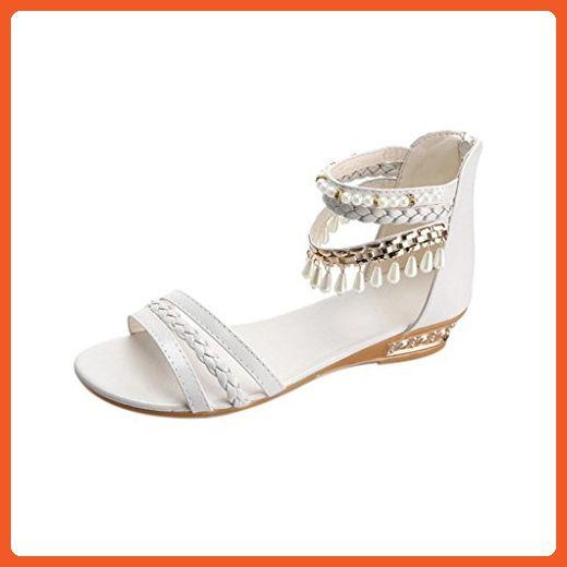 29d0f97d39be1 Anxinke Ladies Elegant Summer Shoes Beaded Bohemian Sandals for ...